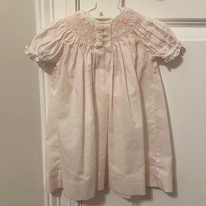 Light pink newborn baby girl dress